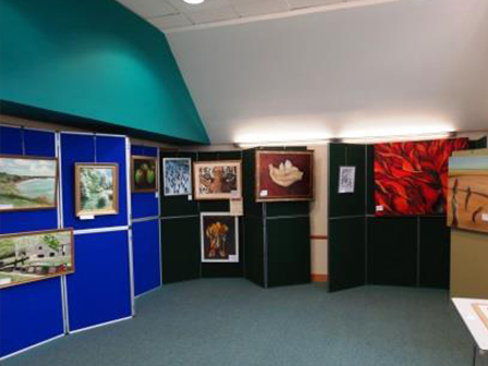Green Room - set up for an Art Exhibition 2014